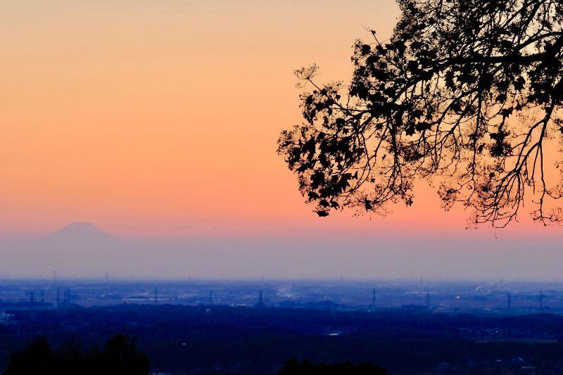 筑波山中腹からの夕景